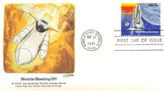 Space First Day Cover: Shuttle Launching John Glenn, First Day Covers, Space Shuttle, Space Exploration, Sally, Product Launch, Explore, Stamps, Seals