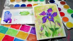Columbine Flower Tutorial & Grumbacher Deluxe Opaque Watercolor Review