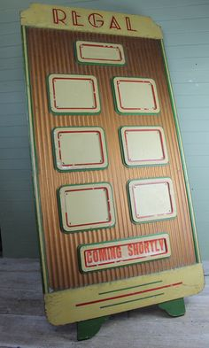 Large 1930s cinema board just in stock £895