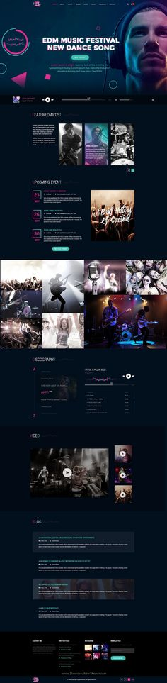 Steve Aoki is perfectly design PSD template for #music bands, #musicians, DJs, producers, labels or organizers of events and festivals who are looking to create a blog or portfolio for their band or team members #website. Download Now!