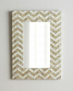 24 x 36   Chevron Pattern Mirror by NM EXCLUSIVE at Neiman Marcus.