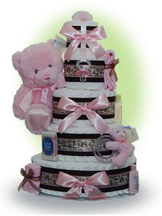 diaper cakes for baby shower | Diaper Cakes for Baby Showers