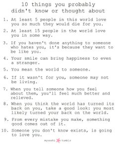 Reasons You Fall In Love With Someone