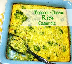 Broccoli-Cheese Rice Casserole by Cooking with K   Kay Little....Again use the cream of chicken substitute!