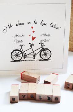 """Svatební oznámení \""""Pro cyklisty :)\"""""""