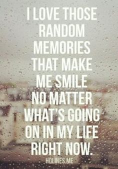 our many memories <3
