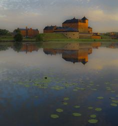 Häme Castle by the lake of Vanajavesi Castle, River, Places, Nature, Outdoor, Painting, Beauty, Art, Finland