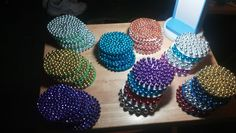 Recycled some more Mardi Gras beads. Made coasters with them. They are easy and fun to do. Craft Tutorials, Craft Projects, Craft Ideas, Bead Crafts, Diy And Crafts, Beadwork, Beading, How To Make Coasters, Mardi Gras Beads