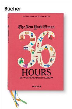 """TASCHEN • Diese aktualisierte, erweiterte Sammlung der berühmten """"36 Hours""""-Reisekolumnen aus der New York Times enthält 125 Reisepläne für europäische Kurztrips, mit lockerer Hand geschrieben und schick illustriert. Erkunden Sie die Highlights des Kontinents, von der Renaissance in Florenz bis zum Flamenco in Sevilla.  Bilderserie anzeigen: www.imagesportal.com/home37.php"""