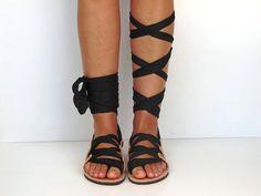 Leather Sandals handmade Unique design with by GreekChicHandmades