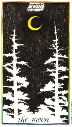 The Moon from the Wild Unknown Tarot