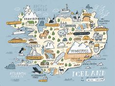 """""""Sneak peek at my Iceland map iceland sketchbook available soon. Email me. Travel Maps, Travel Posters, Places To Travel, Iceland Travel, Map Iceland, Aurora Iceland, Japan Travel, Iceland Adventures, Voyage Europe"""