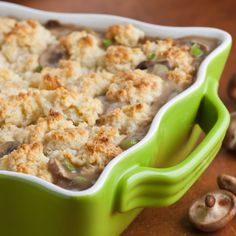 Wild Mushroom Cobbler with Potato Parmesan Biscuits