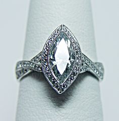 Marquise cut with a twist. This is stunning.