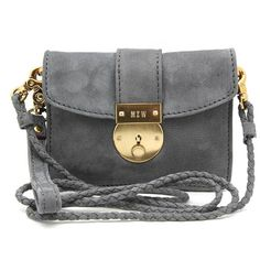 """Mz Wallace """"Chicklet"""" Grey Nylon Cross-Body Bag ($185) ❤ liked on Polyvore"""