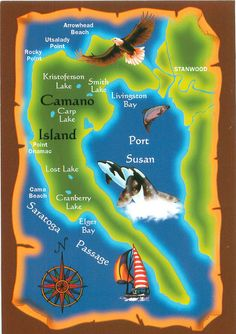 Camano Island Map. Our farm is not far from Elger Bay off the Saratoga Passage. Perfect location for a farm. Warm days, cool and dry.
