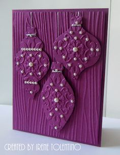 Relax. Make a Card: Purple Ornaments @gramary
