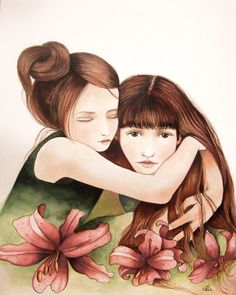The sisters art print by PrintIllustrations on Etsy, $20.00