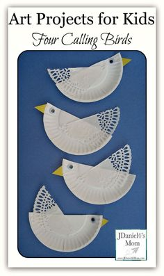 Four Calling Birds Paper Plate Craft- Fun craft works on cutting skills.