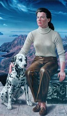 """""""Portret van mevrouw H. (Portrait of Mrs. Heineken.)"""", 1969-1970 / Carel Willink (1900-1983) / Private Collection"""