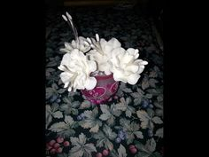 how to make flower , polymer clay flower tutorial , cold porcelain clay rose , first episode - YouTube