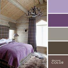 20 perfect color combinations for interior design / Everything for a woman Colour Pallete, Colour Schemes, Color Combinations, Color Palettes, Chalet Modern, Interior Design Minimalist, Purple Bedding, Color Balance, Creative Colour