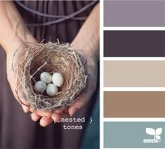 Nested Tones from Design Seeds. This is the color palette for my bedroom makeover Paint Schemes, Colour Schemes, Color Combos, Colour Palettes, Paint Combinations, Design Seeds, Room Photo, Kitchen Paint Colors, Paint Colours