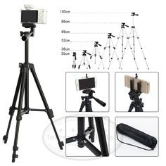 Professional Telescopic Tripod Stand Holder for iPhone 6 Plus Samsung NOTE3 4 | eBay