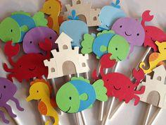 12 Luminoso polpo Cupcake Toppers di MiaSophias su Etsy