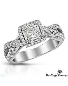 DARLINGS FOREVER 1.55 CTW Color J Diamonds 14K Gold Ring  $3,189  89% off