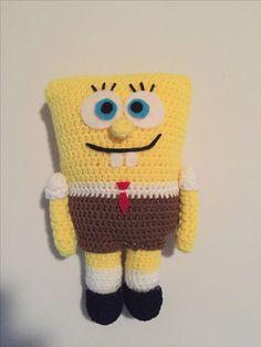 Spongebob - crochet Diy Crochet, Tweety, Crocheting, Pikachu, Hello Kitty, Diy Crafts, Fictional Characters, Art, Crochet
