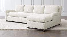 I like this in Winward Storm. Cortina Right Arm Chaise Sectional Upholstered Furniture, Bed Furniture, Custom Furniture, Furniture Design, Furniture Ideas, Corner Sofa Units, Armless Chair, Sleeper Sofa, Crate And Barrel