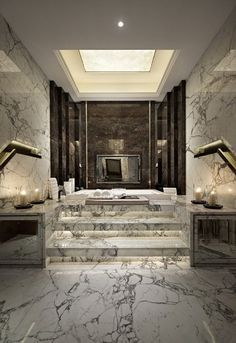 A luxury bathroom will get you halfway to a luxury home design. Today, we bring you our picks for the top bathroom decor ideas that merge exclusive bathroom Interior Design Inspiration, Bathroom Inspiration, Home Interior Design, Bathroom Ideas, Design Ideas, Bathroom Designs, Bathroom Goals, Luxury Interior, Bathroom Colors