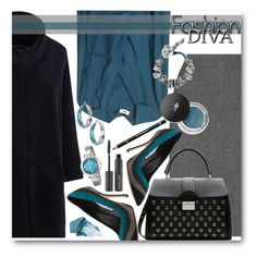 """""""Add Some Teal"""" by brendariley-1 ❤ liked on Polyvore featuring Annette Görtz, L'Agence, Manolo Blahnik, RED Valentino, Lancôme, Paula Dorf, Diane Von Furstenberg, Urban Decay, Nine West and Givenchy"""