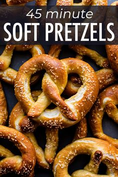 This is one of the easiest ways to prepare homemade soft pretzels and the results are extra delicious! The dough is a family recipe and only needs to rest for 10 minutes before shaping. Recipe on sallysbakingaddic Baked Pretzels, Homemade Soft Pretzels, How To Make Pretzels, No Yeast Pretzel Recipe, Philly Soft Pretzel Recipe, Soft Pretzel Recipes, German Soft Pretzel Recipe, German Pretzels Recipe, Crack Crackers