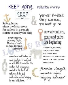 Key meanings from Keep-Collective.  What will yours say? #jewelry #charms #gift… www.keepcollective.com/with/reneebasile