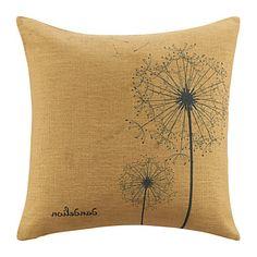 Simplicity Dandelions Pattern  Brown Decorative Pillow Cover - AUD $ 15.34