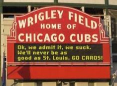 Haha even the cubs know they suck! :))