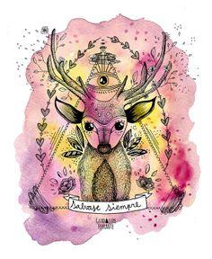 Wild Illustration work by Guadalupe Ferrante, via Behance