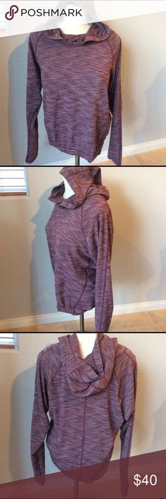 """Lululemon Lululemon healthy heart pullover in a heathered burgundy   There is no size tag. Pit to pit is 21.5"""". Length is 22"""". Elastic at waist band , thumb holes smoke free home. I believe this to be a 12 according to lululemon sizing chart on their website lululemon athletica Tops Sweatshirts & Hoodies"""