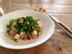 Couscous salade Feta, Smoothies, Grains, Rice, Lunch, Quinoa, Chicken, Health, Salads