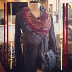 Brightly Twisted scarf and Wilt top. Can't wait for fall! Arcoavenue.com