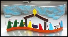 Fused Glass Nativity Wave by GlassInferno on Etsy