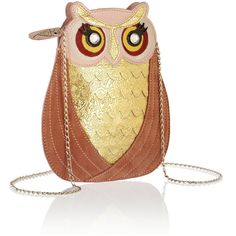 Charlotte Olympia Owl leather and suede bag ($625) found on Polyvore