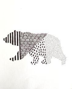 Geometric Bear Illustration by WildHumm on Etsy, $10.00