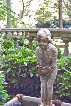 A Cherub Garden Fountain