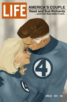 Reed and Sue Richards - LIFE magazine.  Great Candid Superhero Moments from Artist PhilNoto - News - GeekTyrant