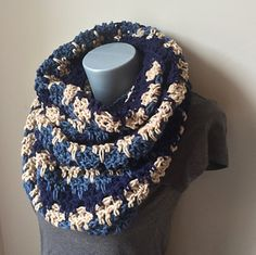 Bleeding Heart Infinity Scarf - free crochet pattern by Jennifer Ozses / RightBrainCrochet.