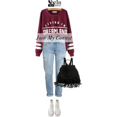 Join My Contest! by sabinakopic on Polyvore featuring H&M and Converse