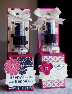 Make your own glimmer spray and create a gift display box for it!